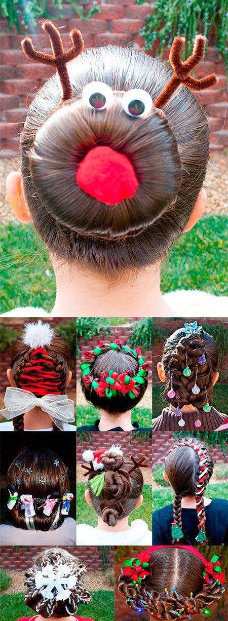peinados navideños originales para la navidad