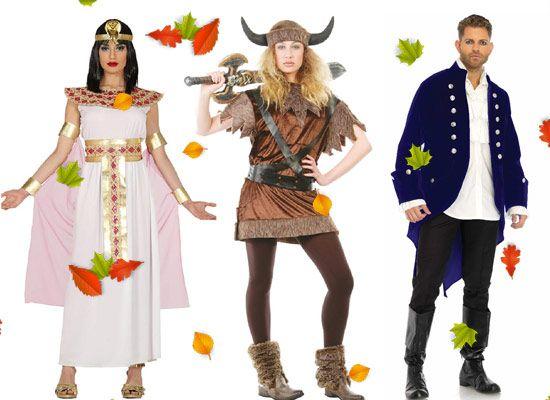 disfraces para carnaval de agepcia, vikingo y de época