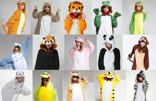 disfraz de carnaval con pijamas de animales
