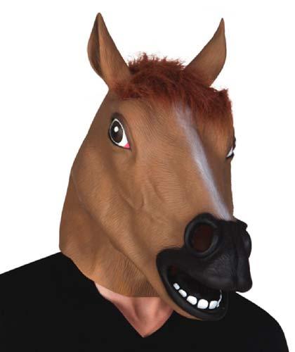 disfraz divertido y facil con máscara de caballo