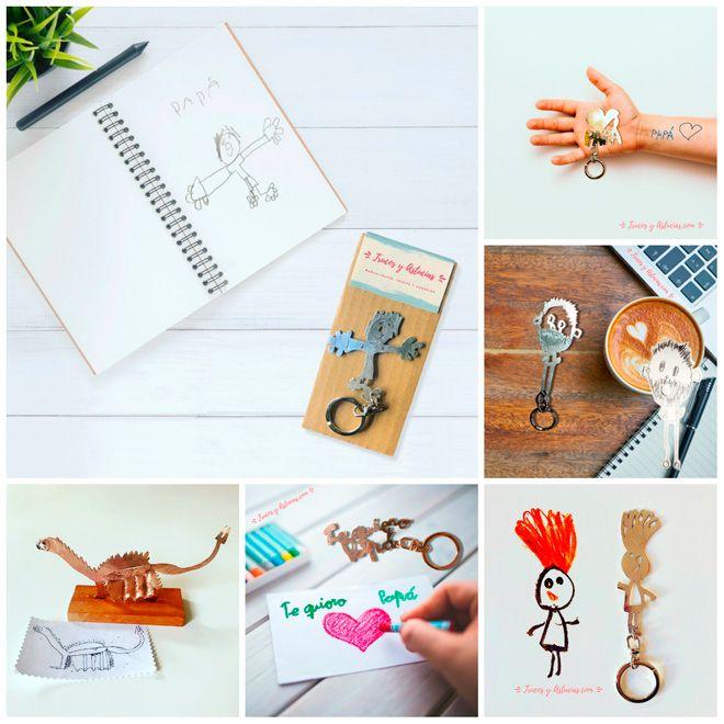 llaveros personalizados a partir de dibujos hechos por niños