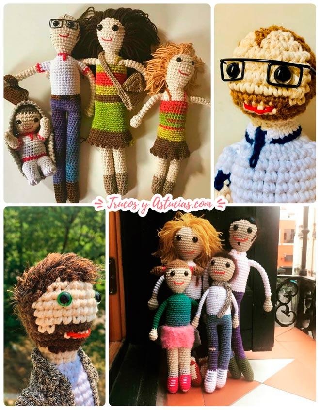 muñecos de crochet personalizados para regalar el día del padre