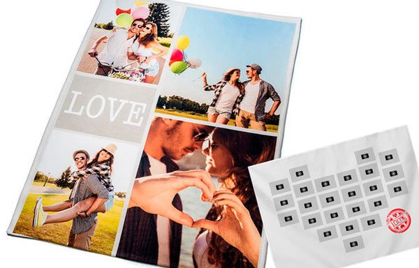 manta personalizada con fotos ideal como regalo romantico para aniversario de pareja