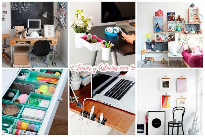 trucos para montar la oficina en casa: decoración, organización, distribución del mobiliario de oficina
