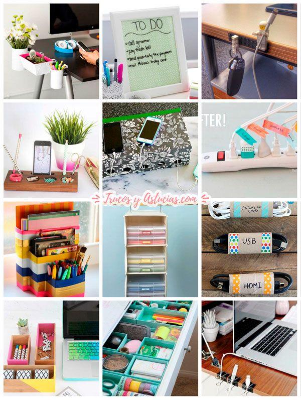 ideas y trucos para organizar la mesa de oficina
