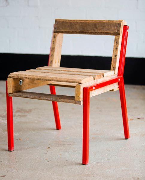silla moderna reciclada diy hecha con palets