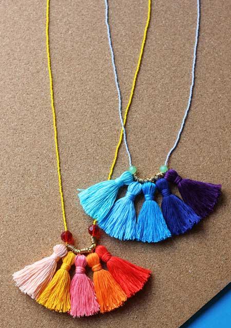collar original y casero para el dia de la madre, fácil y colorido