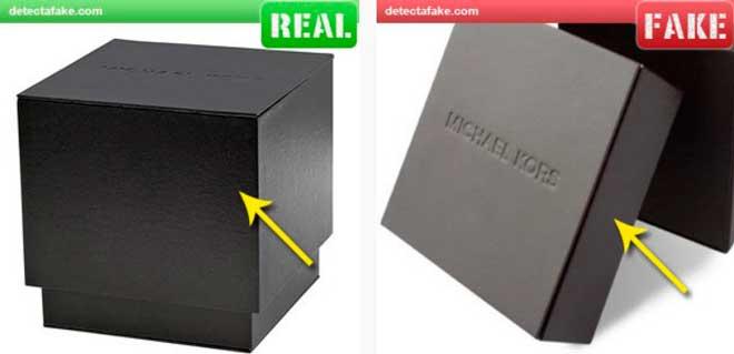 caja auténtica de reloj michael kors de antes de 2012