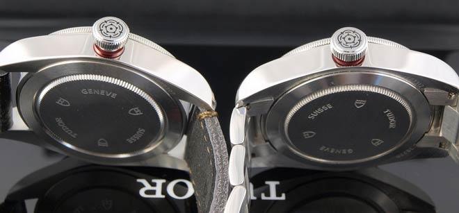 comparativa dos relojes tudor, copia y auténtico