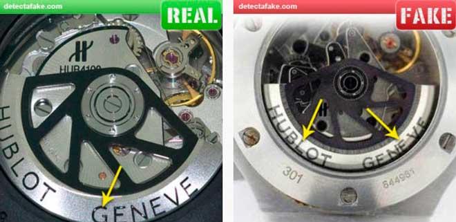 cómo identificar un reloj hublot falso gracias a las letras grabadas en el mismo
