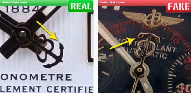 Comparación del segundo de un Breitling original y una copia