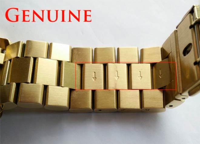 eslabones removibles de una correa de reloj michael kors auténtico