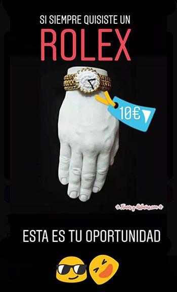 reloj imitación rolex hecho con ganchillo. + info hola@trucosyastucias.com