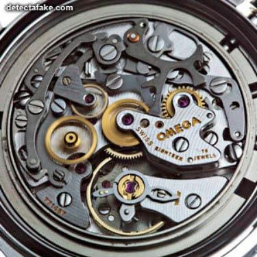 interior de un reloj omega original