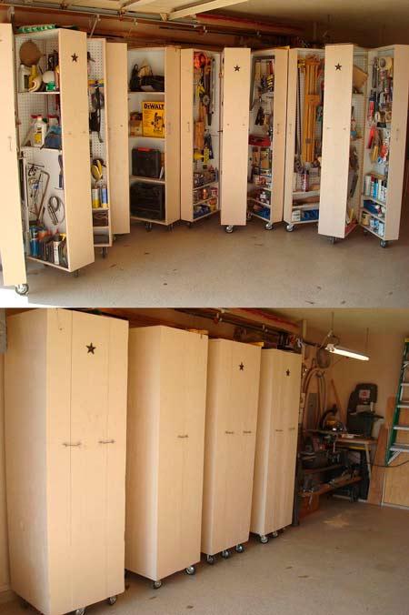 aprovechar el espacio con estanterias ocultas en armarios correderos