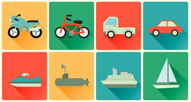 coches, motos, camiones, barcas, lanchas