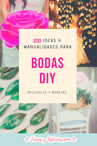 ideas y manualidades para decorar bodas diy originales y baratas