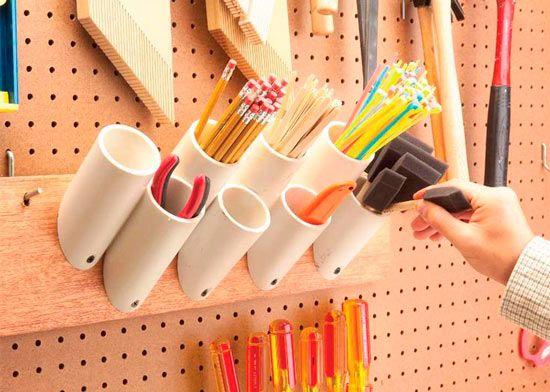truco para crear cubiletes para un tablero de herramientas