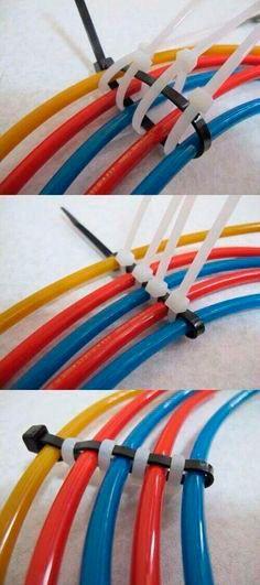 truco para ordenar cables con bridas