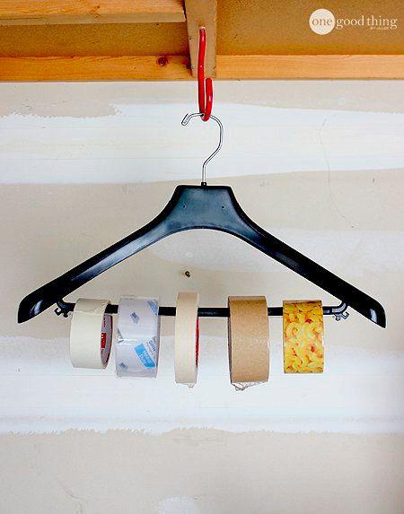 truco percha dispensador de cinta de pintor, cinta aislante, etc