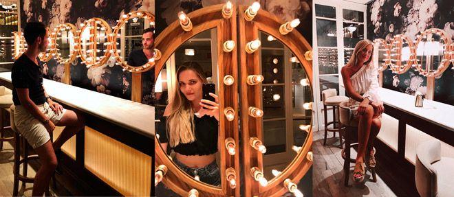 espejos de los baños del restaurante el nacional, en barcelona