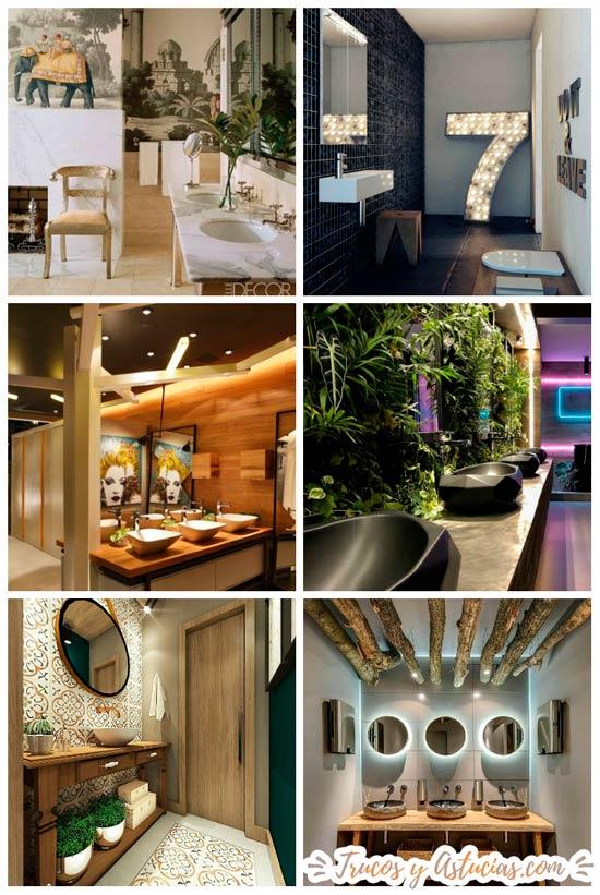 los mejores baños de restaurantes con decoración original