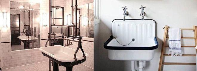 lavabos vintage de moda