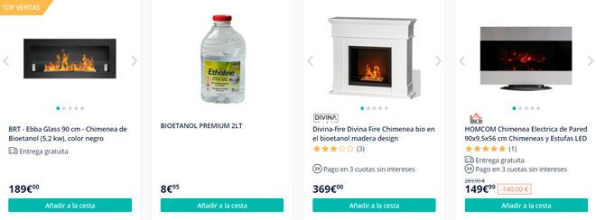 tienda online especializada en estufas de bioetanol