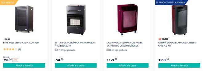 tienda online especializada en estufas de gas