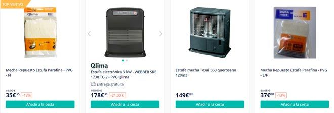 tienda online especializada en estufas de parafina