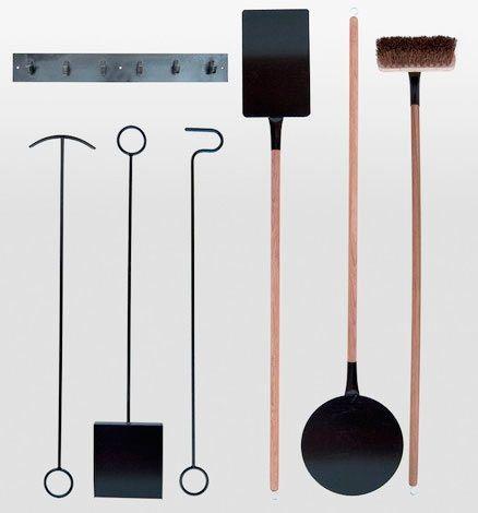 herramientas para manipular y echar pellets a la estufa