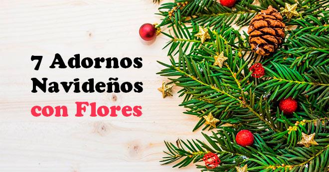ideas de decoración para navidad con flores