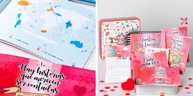 regalo original para pareja, caja con recuerdos