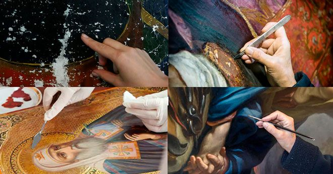 instrucciones paso a paso para restaurar obras de arte, pinturas, esculturas etc