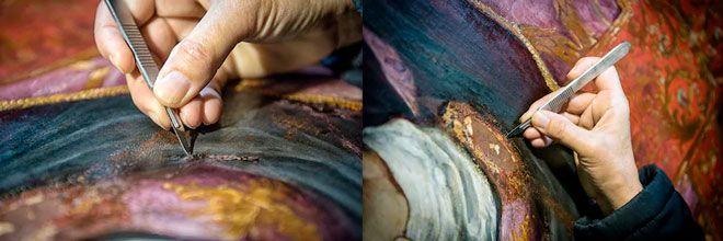 como arreglar lienzos y cuadros en mal estado