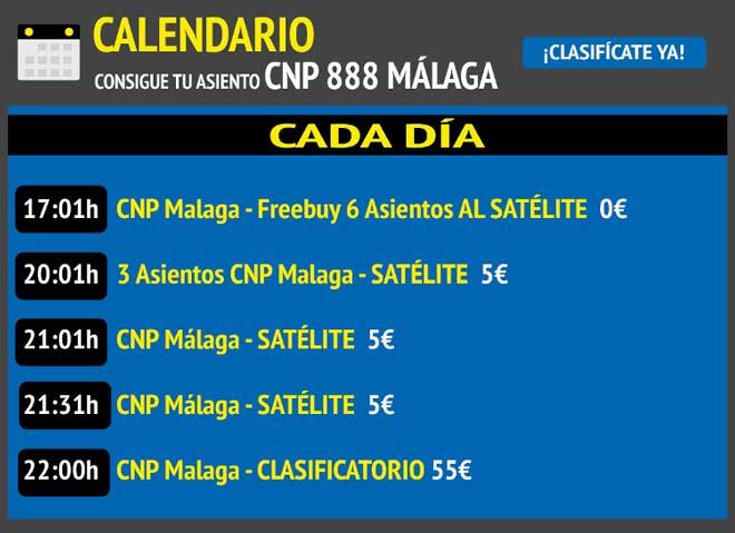 instrucciones para clasificarse gratis en el cnp888 2019 de malaga