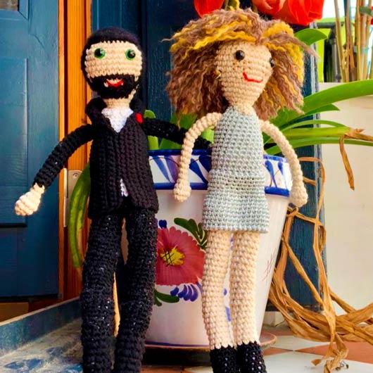 muñecos ganchillo personalizados pareja novios