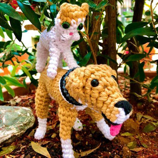 amigurumi muñecos de crochet personalizados como tus mascotas