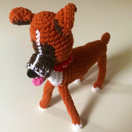 peluche de ganchillo perro personalizado
