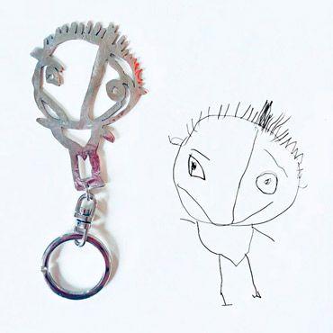 llavero personalizado por niños con un dibujo infantil