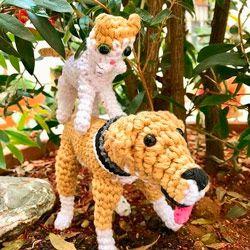 regalo ideal para personas con mascotas: amigurumis muñecos de ganchillo de perro y gato