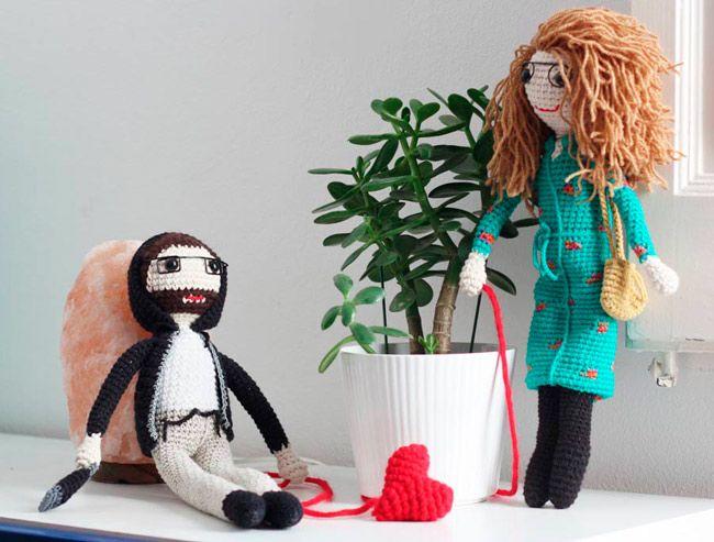 pareja crochet personalizada ideal para regalar por san valentin o regalo de aniversario