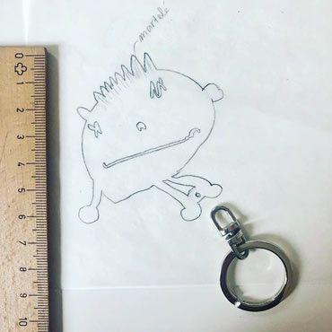 como hacemos los llaveros dibujo infantil: paso 2 - hacemos el boceto