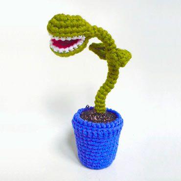 amigurumi planta carnivora de ganchillo