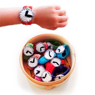 relojes de ganchillo para niños