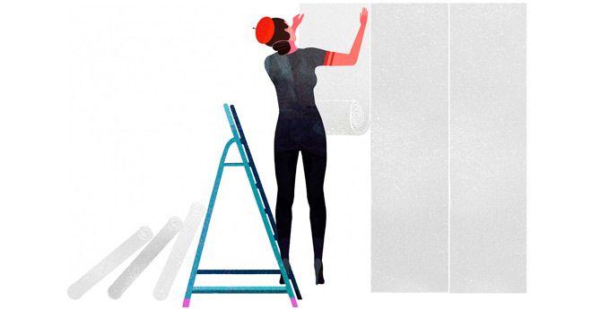 trucos y consejos para colocar papel pintado en paredes y otras superficies