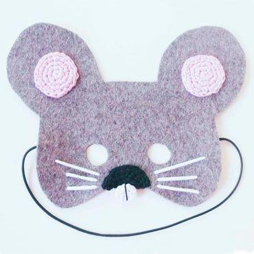 careta ratón para niño de fieltro