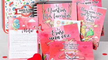 """pack con recuerdos para guardar y apuntar especial para enamorados """"retrobox"""""""