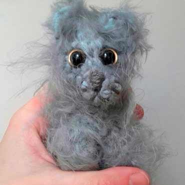 muñecos peluche gato de ganchillo (crochet)