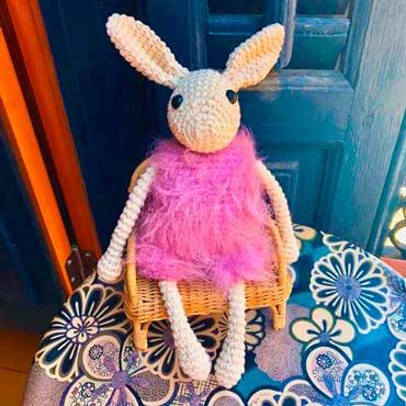 muñeco peluche conejo de ganchillo (crochet)